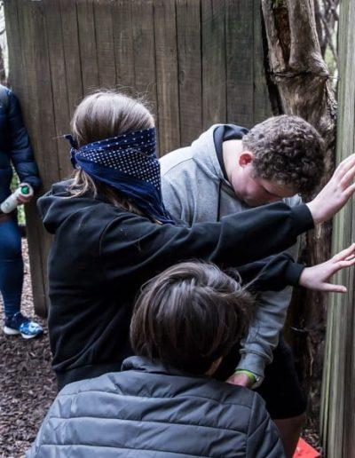 blindfold wall climb